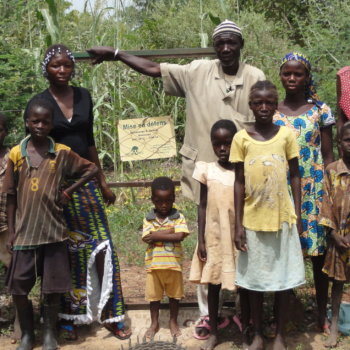 Saydou Ouédraogo und Familie
